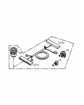 EW720112FX11 Wire Ass'y X11/X13/X8 (Control Panel)(For 1250W/1650W/1850W)