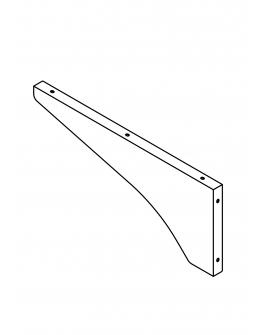 Rack (Left)(Stainless Steel Model)(For 1050W/1650W)