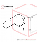 H45-50100 Bottom Base Wearing Protection Plate Set  (Option)