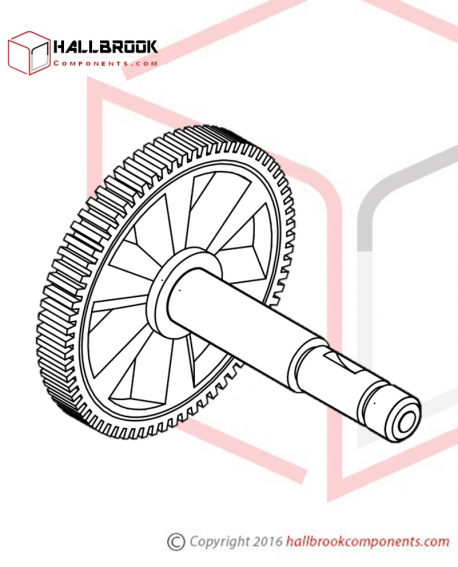 T5-1-30220 Worm Gear for M1 Motor