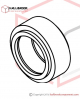 T6-1-71120S Upper Feed Roller (For 12mm) (Stainless Steel Model)