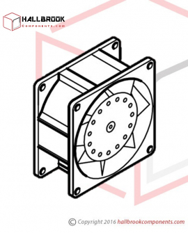 T6-6-10550 Fan (For M1/M2 Motor, 110V/1PH)