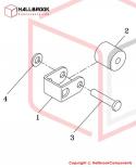 T6-4-22000S Free Slide Roller Ass'y (Stainless Steel Model)
