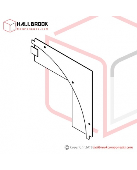 T6-2-21360 Back Guide Plate, Corner Upper