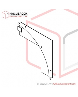 T6-2-21360S Back Guide Plate, Corner Upper (Stainless Steel Model)