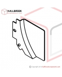 T6-2-21370S Back Guide Plate, LH Lower (Stainless Steel Model)