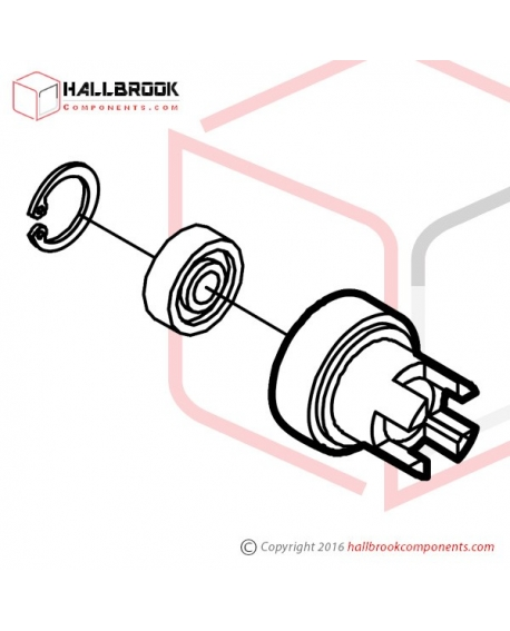 MV-1-71110 Upper Feed Roller Ass'y (For 12mm)
