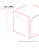 T6-2-20140 Arch Cover, Rear (For 850W x 600H)